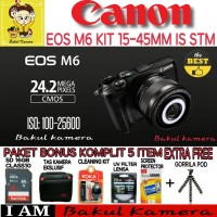 Kamera Mirrorless CANON EOS M6 KIT 15-45MM IS STM Terbaik XTT104615