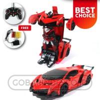 Mainan anak mobil remote control sport race cars transformer 777-AR27