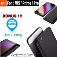 Case Xiaomi Mi5 Casing Slim Hp Back Covers + Tempered Glass Mi 5 Pro