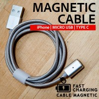 Konektor Kabel Data ANDROID TYPE C Magnetic Cable Phone Charger