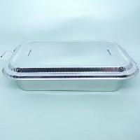 BX-4381 Alumunium Tray Foil Aluminium Kotak Makan Oven Dengan Penutup