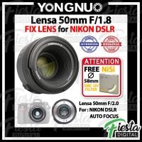 Lensa YONGNUO YN 50mm f/1.8 For NIKON DSLR , Lensa Fix 50mm
