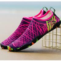Sepatu Pantai Pink diving shoes beach aqua wading shoes sepatu renang