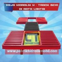 Meja hidrolik cuci mobil type h rata lantai, gratis instalasi di DKI