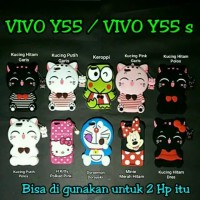 CASE WS BONEKA 3D 4D MOTIF DORAEMON HELLO KITTY Vivo y55 y55s