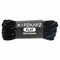 KipzKapz FS54 Black White 90cm 115cm 140cm Tali Sepatu Pipih / Flat