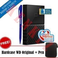 WD My Passport Hardisk Eksternal 4TB - Hitam + Pen + Hardcase WD [FS]