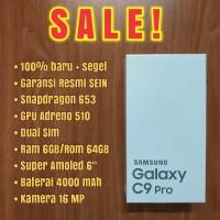 SAMSUNG GALAXY C9 PRO 6/64GB BLACK GARANSI RESMI SEIN NOT J8 A8 S8 S9