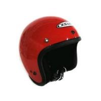 Helm Zeus Retro ZS 385 c Red vespa cafe racer onderdil motor