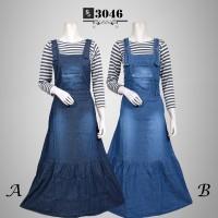 Baju Gamis Casual Jeans Terbaru FS3046