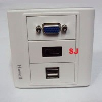 Faceplate VGA HDMI with 2Port USB Outlet Socket