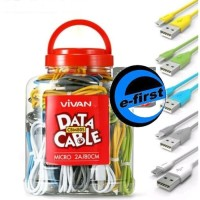 kabel cable data micro usb vivan cbm80 utk charger hp android samsung