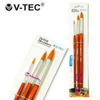 V-Tec Round Brush 805 Set 3 / Kuas Lukis Set 3