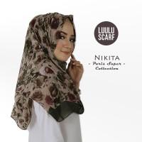 Luulu Scarf - NIKITA - Jilbab Pashmina Motif Import Katun