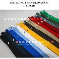 Resleting Zipper 30 cm / 12 inch Vislon YKK Warna Warni