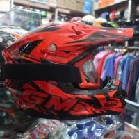 Helm Cross GM Rider Pro Red plus GOOGLE