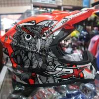Helm Cross JPX Owl Orange Fluo