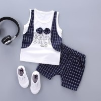 Baju Pakaian Fashion Anak Bayi Cowok Laki Laki Kaos Setelan Motif