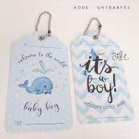 (GHTBABY03) Tag Ucapan hantaran kado hadiah tema baby boy soft blue