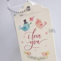 (GHTLOVE01) Tag Ucapan hantaran kado hadiah valentine tema Love