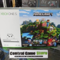 XBOX One S 500GB Console System - Minecraft Pack Bundle