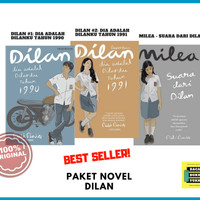Paket Novel Dilan (Dilan 1 1990, Dilan 2 1991, & Milea) [ORIGINAL]