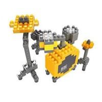 DRUM Set Yellow Kuning Musical HSANHE 8303 Nano Block Mini Lego