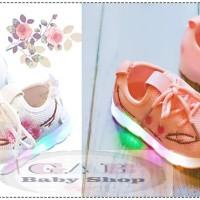 Sepatu Lampu LED Anak Perempuan/ Sepatu Lampu LED Sakura Import