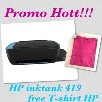 HP 419 Ink Tank Wireless Printer - Black FREE 1 BOTOL TINTA BLACK XL