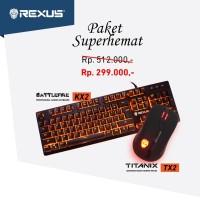 Paket Super Hemat Rexus Mouse Gaming TX2 & Rexus Keyboard Gaming KX2