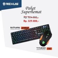 Paket Super Hemat Rexus Mouse Gaming TX3 & Rexus Keyboard Gaming K9RGB
