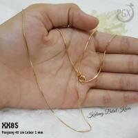 Kalung Belut Kaca 45 cm - Perhiasan Xuping Lapis Emas XX085