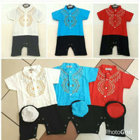 Pakaian Bayi Laki-Laki Baju & Sepatu Koko Romper Baby Muslim A AHD5750