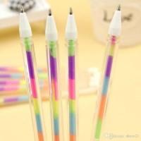 Bolpen Pulpen Ballpoint Gel ink pen Korea Pelangi Rainbow unik Fancy