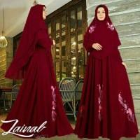 KD- Zainal Premium( 4 WARNA)/Gamis Syari Set Bergo Syari Hijab