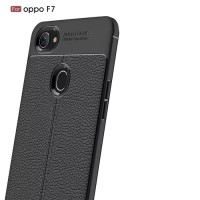 Softcase TPU Luxury Shockproof Leather Case Cover Casing HP Oppo F7