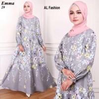 Gamis Maxi Emma Glowing Fall Baju Muslim Wanita Gamis Model Kekinian