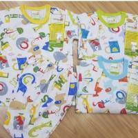 Pakaian Setelan Baju Bayi Velvet Junior Lengan Pendek My Zoo XXL