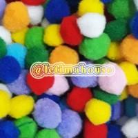 Pom pom / pompom polos warna warni 15mm / 1,5cm