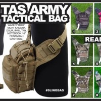 Tas Army Sling Bag Tactical Anti Air DSLR Camo Loreng selempang kamera