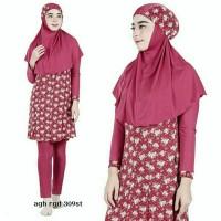 SALE STOCK PM Baju Renang Muslimah Wanita Dewasa Muslim Fuchsia M