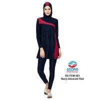 SALE STOCK PM Baju Renang Wanita Muslim by EDORA Navy Red M