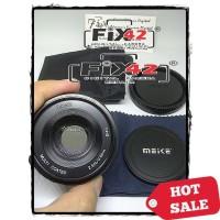 Lensa Meike 50MM F2.0 Mirrorless APS-C Nikon 1 V1 J1 Dll Paket Lengkap