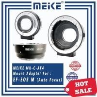 Lensa adapter / Adaptor Mount Meike MK-C-AF4 CANON EF to EOS-M