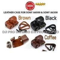 Murah Sony Alpha A6000 - A6300 Leather Case - Tas Kamera MirrorLess
