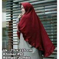 Jual Fashion Muslim KHIMAR REMPEL PET PENGUIN JUMBO || HIJAB JILBAB INSTAN Murah