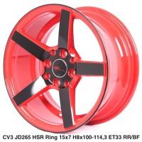 velg mobil ne3 ring15 warna merah