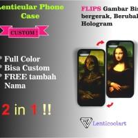 Custom Casing HP gambar bergerak (2 in 1) iphone / Samsung / Xiaomi