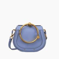 CHLOE SMALL NILE WASHED BLUE LEATHER BRACELET BAG ORIGINAL   TAS CHLOE