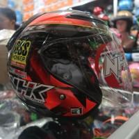Helm Half Face NHK r6 DSS Power Black Yellow